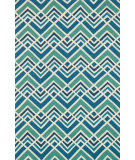 RugStudio presents Loloi Venice Beach Venivb-22 Sea / Blue Hand-Hooked Area Rug