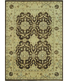 RugStudio presents Loloi Vernon Vn-01 Brown / Light Gold Hand-Knotted, Good Quality Area Rug