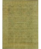 RugStudio presents Loloi Vernon Vn-04 Moss / Gold Hand-Knotted, Good Quality Area Rug