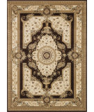 RugStudio presents Rugstudio Sample Sale 37942R Coffee-Ivory Machine Woven, Better Quality Area Rug