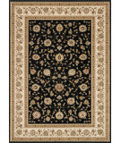 RugStudio presents Rugstudio Sample Sale 37941R Black-Ivory Machine Woven, Better Quality Area Rug