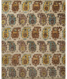 RugStudio presents Loloi Xavier XV-10 Sand / Multi Hand-Knotted, Good Quality Area Rug