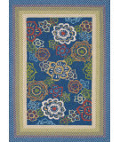 RugStudio presents Loloi Zamora Zm-04 Blue Machine Woven, Good Quality Area Rug