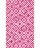 RugStudio presents Loloi Zoey Zo-04 Pink Machine Woven, Good Quality Area Rug