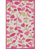RugStudio presents Loloi Zoey Zo-05 Pink - Green Machine Woven, Good Quality Area Rug