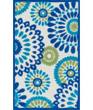RugStudio presents Loloi Zoey Zo-06 Blue - Green Machine Woven, Good Quality Area Rug