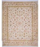 RugStudio presents Lotfy and Sons Blossom 13 Ivory/Ivory Hand-Knotted, Best Quality Area Rug