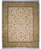 RugStudio presents Lotfy and Sons Blossom 13 Ivory/Light Green Hand-Knotted, Best Quality Area Rug