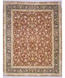 RugStudio presents Lotfy and Sons Blossom 13 Burgundy/Dark Blue Hand-Knotted, Best Quality Area Rug