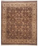 RugStudio presents Rugstudio Sample Sale 9678R Aubergine/Gold Hand-Knotted, Best Quality Area Rug
