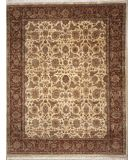 RugStudio presents Lotfy and Sons Vintage 134b Gold/Red Hand-Knotted, Best Quality Area Rug