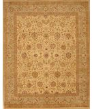 RugStudio presents Lotfy and Sons Nuance 871 Light Gold/Light Green Hand-Knotted, Best Quality Area Rug