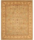 RugStudio presents Lotfy and Sons Nuance 871 Light Green/Light Gold Hand-Knotted, Best Quality Area Rug