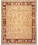 RugStudio presents Lotfy and Sons Nuance 872 Sea Green/Red Hand-Knotted, Best Quality Area Rug