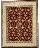 RugStudio presents Lotfy and Sons Oasis Cy65 Red/Ivory Hand-Tufted, Best Quality Area Rug