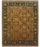 RugStudio presents Lotfy and Sons Majestic Hs-17 Red/Black Hand-Knotted, Best Quality Area Rug