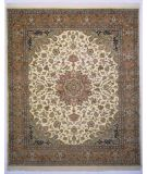 RugStudio presents Lotfy and Sons Narmada 24 Ivory/Light Rose Hand-Knotted, Best Quality Area Rug