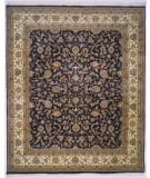 RugStudio presents Lotfy and Sons Narmada 320 Black/Ivory Hand-Knotted, Best Quality Area Rug