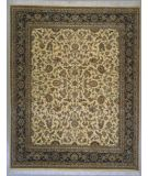RugStudio presents Lotfy and Sons Narmada 320 Ivory/Dark Blue Hand-Knotted, Best Quality Area Rug