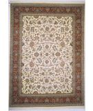 RugStudio presents Lotfy and Sons Narmada 320 Ivory/Red Hand-Knotted, Best Quality Area Rug