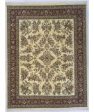 RugStudio presents Lotfy and Sons Narmada 400 Ivory/Burgundy Hand-Knotted, Best Quality Area Rug