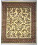 RugStudio presents Lotfy and Sons Narmada 400 Ivory/Rose Hand-Knotted, Best Quality Area Rug