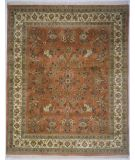 RugStudio presents Lotfy and Sons Narmada 400 Light Rose/Ivory Hand-Knotted, Best Quality Area Rug