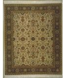 RugStudio presents Lotfy and Sons Prestige Kashan Ivory/Dark Blue Hand-Knotted, Best Quality Area Rug