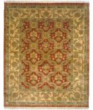 RugStudio presents Rugstudio Sample Sale 9589R Red/Gold Hand-Knotted, Best Quality Area Rug