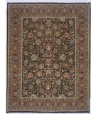 RugStudio presents Lotfy and Sons Prestige Mashad Dark Blue/Red Hand-Knotted, Best Quality Area Rug