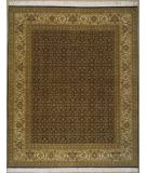 RugStudio presents Lotfy and Sons Prestige Tabriz Heraty Black/Light Gold Hand-Knotted, Best Quality Area Rug