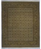 RugStudio presents Lotfy and Sons Prestige Tabriz Heraty Ivory/Light Green Hand-Knotted, Best Quality Area Rug