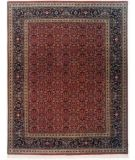 RugStudio presents Lotfy and Sons Prestige Tabriz Heraty Red/Navy Hand-Knotted, Best Quality Area Rug
