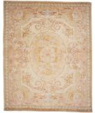 RugStudio presents Lotfy and Sons Versailles Td-104 Cream/Gold Hand-Knotted, Best Quality Area Rug