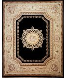 RugStudio presents Lotfy and Sons Orleans Tr2 Black/Light Gold Hand-Knotted, Best Quality Area Rug