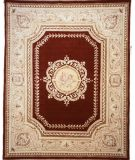 RugStudio presents Lotfy and Sons Orleans Tr2 Burgundy/Light Gold Hand-Knotted, Best Quality Area Rug