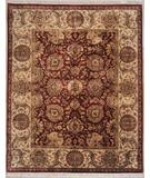 RugStudio presents Lotfy and Sons Majestic 920 Burgundy/Gold Hand-Knotted, Best Quality Area Rug