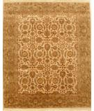 RugStudio presents Lotfy and Sons Majestic 205 Cream/Light Green Hand-Knotted, Best Quality Area Rug