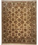RugStudio presents Lotfy and Sons Majestic S-19 Cream/Light Green Hand-Knotted, Best Quality Area Rug