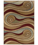 RugStudio presents LR Resources Adana LR80241 Brown-Blue Machine Woven, Good Quality Area Rug