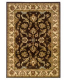 RugStudio presents LR Resources Adana LR80371 Brown-Cream Machine Woven, Good Quality Area Rug