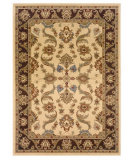 RugStudio presents LR Resources Adana LR80371 Cream-Brown Machine Woven, Good Quality Area Rug