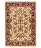 RugStudio presents LR Resources Adana LR80371 Cream-Red Machine Woven, Good Quality Area Rug
