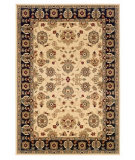 RugStudio presents LR Resources Adana LR80716 Cream-Black Machine Woven, Good Quality Area Rug