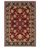 RugStudio presents LR Resources Adana LR80716 Red-Black Machine Woven, Good Quality Area Rug
