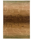 RugStudio presents LR Resources Adana LR80903 Light Brown- Light Moss Machine Woven, Good Quality Area Rug
