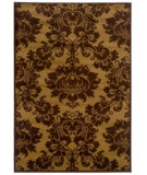 RugStudio presents LR Resources Adana LR80905 Dark Yellow- Light Brown Machine Woven, Good Quality Area Rug