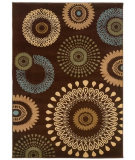 RugStudio presents LR Resources Adana LR80910 Brown Machine Woven, Good Quality Area Rug