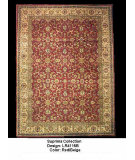 RugStudio presents LR Resources Suprima LR4115B Red / Beige Hand-Knotted, Best Quality Area Rug
