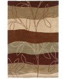 RugStudio presents LR Resources Fashion LR20805 Rust-Ivory Hand-Tufted, Good Quality Area Rug